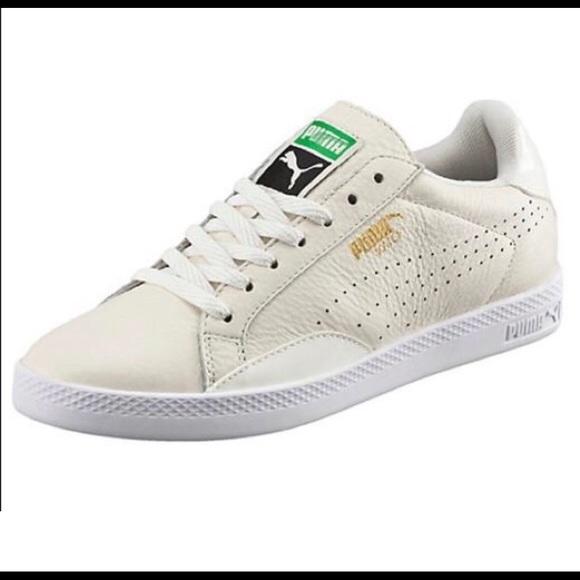 41b7f63e2ec9 Puma Match Lo Marshmallow and White Sneakers. M 5b42a0c6aa5719eb9f798e8a